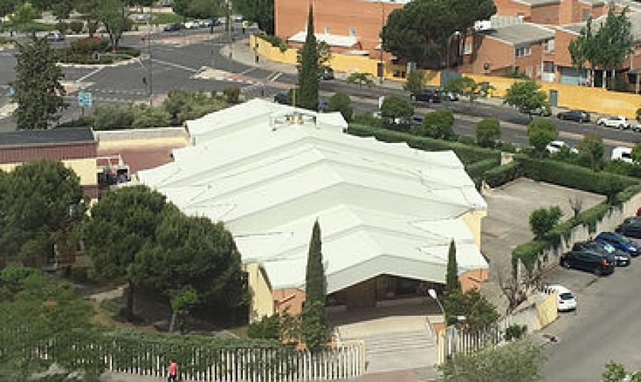 Vista aérea de la parroquia