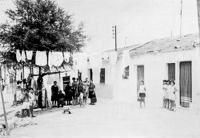 Chabolas del barrio en 1965